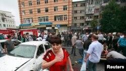 Последствия теракта у входа на центральный рынок Владикавказа