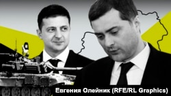 Колаж із зображенням президента України Володимира Зеленського (ліворуч) та помічника президента Росії Владислава Суркова