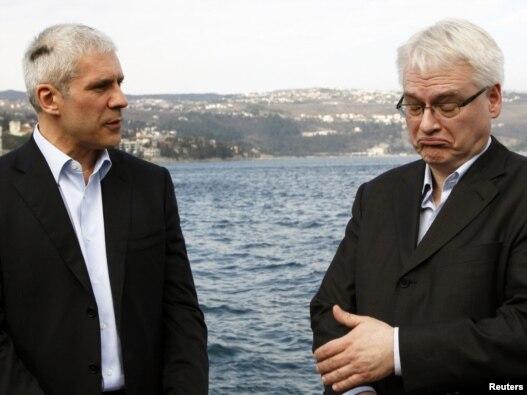 Boris Tadić i Ivo Josipović u Opatiji, 24. marta 2010