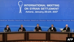 The first round of talks in Astana last month failed to make progress toward a political settlement of the Syria conflict (file photo).