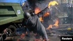 Столкновения в Киеве 18 февраля 2014 года.