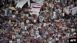 Демонстрация сторонников Мохаммеда Мурси
