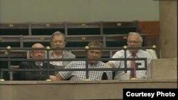 Вадим Колесніченко спостерігає за перебігом дискусії в Сеймі з балкону, 10 липня 2013 року