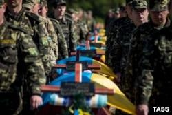 Похорони загиблих воїнів. Запорізька область, 1 жовтня 2014 року