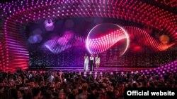 Eurovision сынагы Вена шаарындагы16 миң кишиге ылайыкталган шаардык аренада өтүп жатат. 21-май, 2015-жыл.