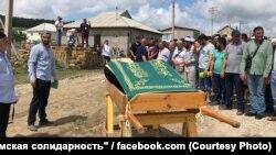 Похороны Мусы Сулейманова, Крым, Строгановка, 27 июля 2020 года