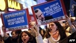 Протести во Истанбул на 19 декември 2013 година.
