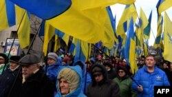 Еуропа Одағымен интеграцияны жақтаушылардың наразылығы. Киев, 29 қараша 2013 жыл.