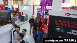 Armenia -- Young people at the annual Digitec Expo exhibition in Yerevan, October 6, 2018.