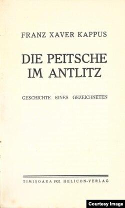 """""""Die Peitsche im Antlitz"""" (Biciul în obraz) – coperta, 1921."""