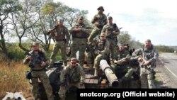 "Бойцы ЧВК ""Е.Н.О.Т."" в Донбассе"