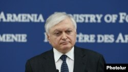 Armenia -- Foreign Minister Edward Nalbandian at a press conference in Yerevan, 31Jan2017