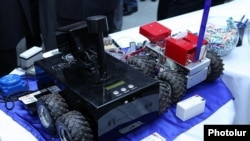 Armenia - Robots displayed at the annual Digitec exhibition in Yerevan, 5Oct2012.