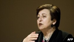 Iranian human rights activist and 2003 Nobel Peace Prize winner Shirin Ebadi