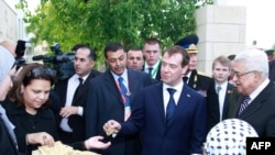Дмитрий Медведев во время визита в Палестинскую автономию, 18 января 2011 года