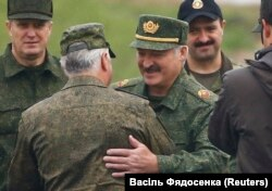 "Аляксандар Лукашэнка на вучэньнях ""Захад-2017"""