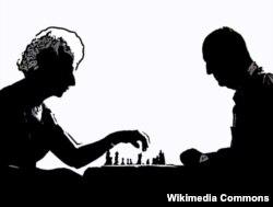 Вера и Владимир Набоков играют в шахматы