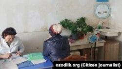 Кабинет гинеколога в поликлинике Ахангаранского района Ташкентской области.