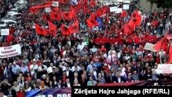 Протест на албанскиот опозициски Совет