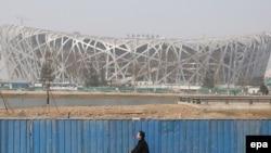 Варзишгоҳи миллии Чин дар Пекин дар ҳоли омодагирӣ ба Олимпиада-2008