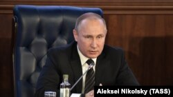 Президент России Владимир Путин на расширенном заседании минобороны России, 22 декабря 2016 год