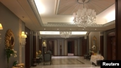 A part of the Ritz-Carlton hotel suite where Saudi Arabian billionaire Prince Alwaleed bin Talal was detained