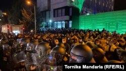 Орталық сайлау комиссиясының ғимараты. Тбилиси, 8 қараша 2020 жыл.