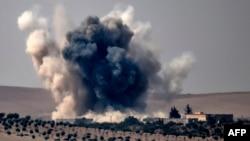 Pamje pas një sulmi ajror të Turqisë kundër caqeve të IS-it në Siri