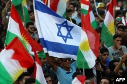 یکی از تجمع های حمایت از برگزاری همه پرسی در اقلیم کردستان عراق