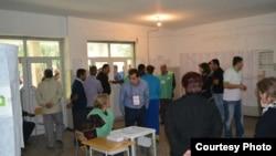 На одном из избирательных участков в Грузии.