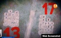 """Коронавирустан қайтыс болған адамдар жерленген зират. """"31 арна"""" бағдарламасынан алынған скриншот."""