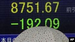 Сегодняшнее табло на токийской фондовой бирже