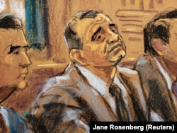A court sketch of Lev Parnas at an arraignment hearing in New York last month.