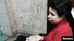 Подвергшаяся избиению украинский журналист Татьяна Черновол. Киев, 25 декабря 2013 года.