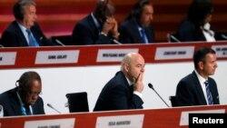 На засіданні 66-го конгресу ФІФА, Мехіко, 13 травня 2016 року