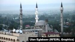 Бишкекте курулуп жаткан жаңы борбордук мечит.