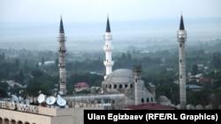 Бишкектеги жаңы курулуп жаткан борбордук мечит.(Коргоо кеңеши бүгүн дин маселесин да карап жатат.)