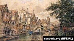 Прага на карціне чэскага мастака Бэдржыха Гаўранка (1853)