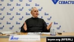 Правозащитник и юрист «Союза предпринимателей Севастополя» Владимир Новиков на пресс-конференции 5 декабря 2018 года