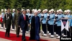 Түркия -- Абдулла Гүл Хасан Роухани менен жолугушууда. Анкара, 9-июнь, 2014.