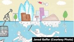 Cavad Qaffarın karikaturası.