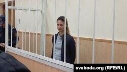 Вольга Сьцяпанава падчас суду