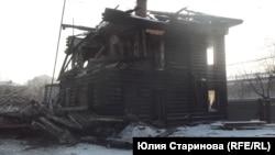 Частично разрушенный дом урядника Еромолаева в Красноярске (архивное фото)