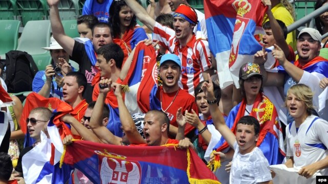 Serbian fans hurled insults during the Australian Open - and so did the Croatians