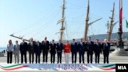 Liderët evropian dhe ata të Ballkanit në Samitin e Triestes
