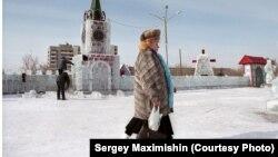 Ледовый Кремль. Краснокаменск, Забайкальский край. Фотография Сергея Максимишина
