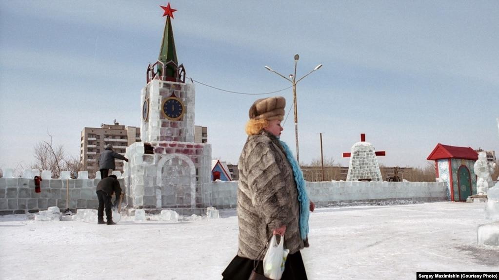 Ледовый Кремль в забайкальском Краснокаменске