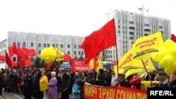 Февральский митинг комунистов оказался менее массовым, чем первомайская демонстрация