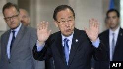 دبیر کل سازمان ملل، که به ژنو رفته از طرفها خواسته تا بدون پیششرط و با حسن نیت به این نشست بیایند