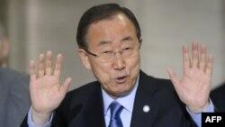 БҰҰ бас хатшысы Пан Ги Мун. Женева, 15 маусым 2015 жыл.